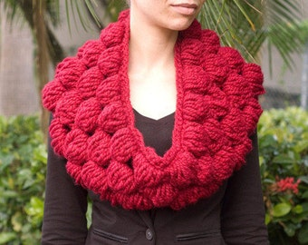 Crochet Bubble Cowl PDF Pattern