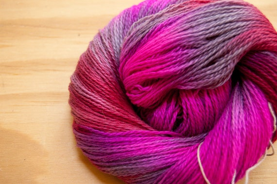 Electric Berry Cashmere Lace Yarn