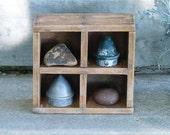 Primitive Wooden Wood Box Handmade Vintage Display Prim Folk Art Farmhouse Farm Industrial Loft Style