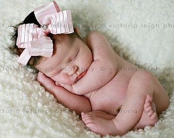Gorgeous Pink  Bow Headband for Baby Girls - Photo Prop