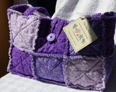 Purple Handmade Rag Quilt Purse