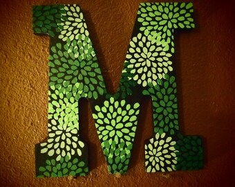 Green Firework Flower Letters - 9 Inches