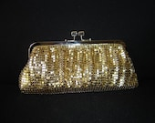 Reserved  for garnetys - SALE from US42 now US27 Gold Metallic Clutch - Large