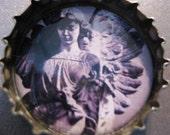 Gothic Angels Bottle Cap Pendants