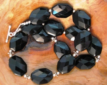 Bettye Revisited:  Black Onyx and Sterling Silver Necklace  BN-2