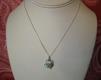 Bailey.  All Sterling Cheerleading Charm Necklace