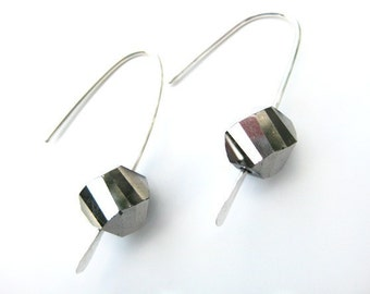 Sterling Silver and Czech Glass Drop Earrings