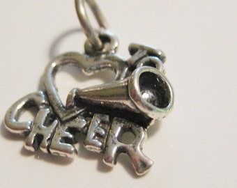Sterling Silver Love to Cheer with Megaphone Charm