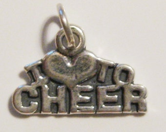 Sterling Silver Cheer Charm I Love to Cheer