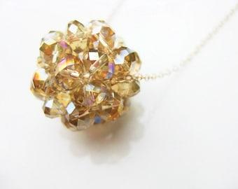 Swarovski Crystal Globe Necklace