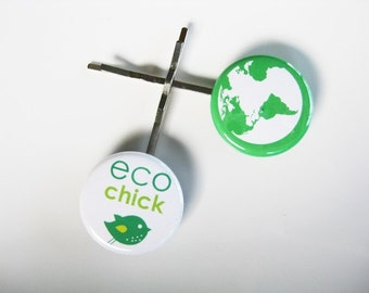 Eco Chick Reduce Reuse Recycle Bobby Pins: Sets 1-3  B-78a