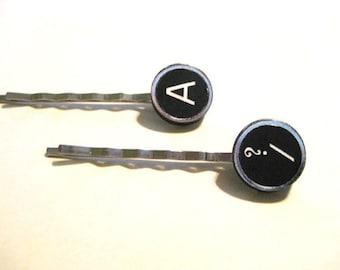 Faux Typewriter Key Bobby Pin, Style 2