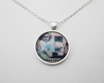 Beautiful:  Vintage Silverplate and Glass Necklace