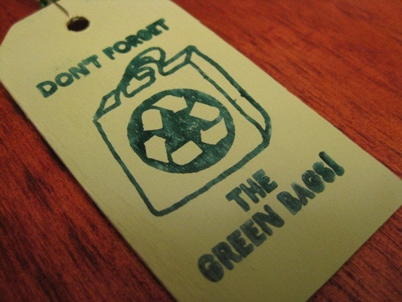Recycle Bag Reminder Rearview Mirror Charm