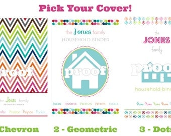 Personalized Household Binder Coversheet Printable