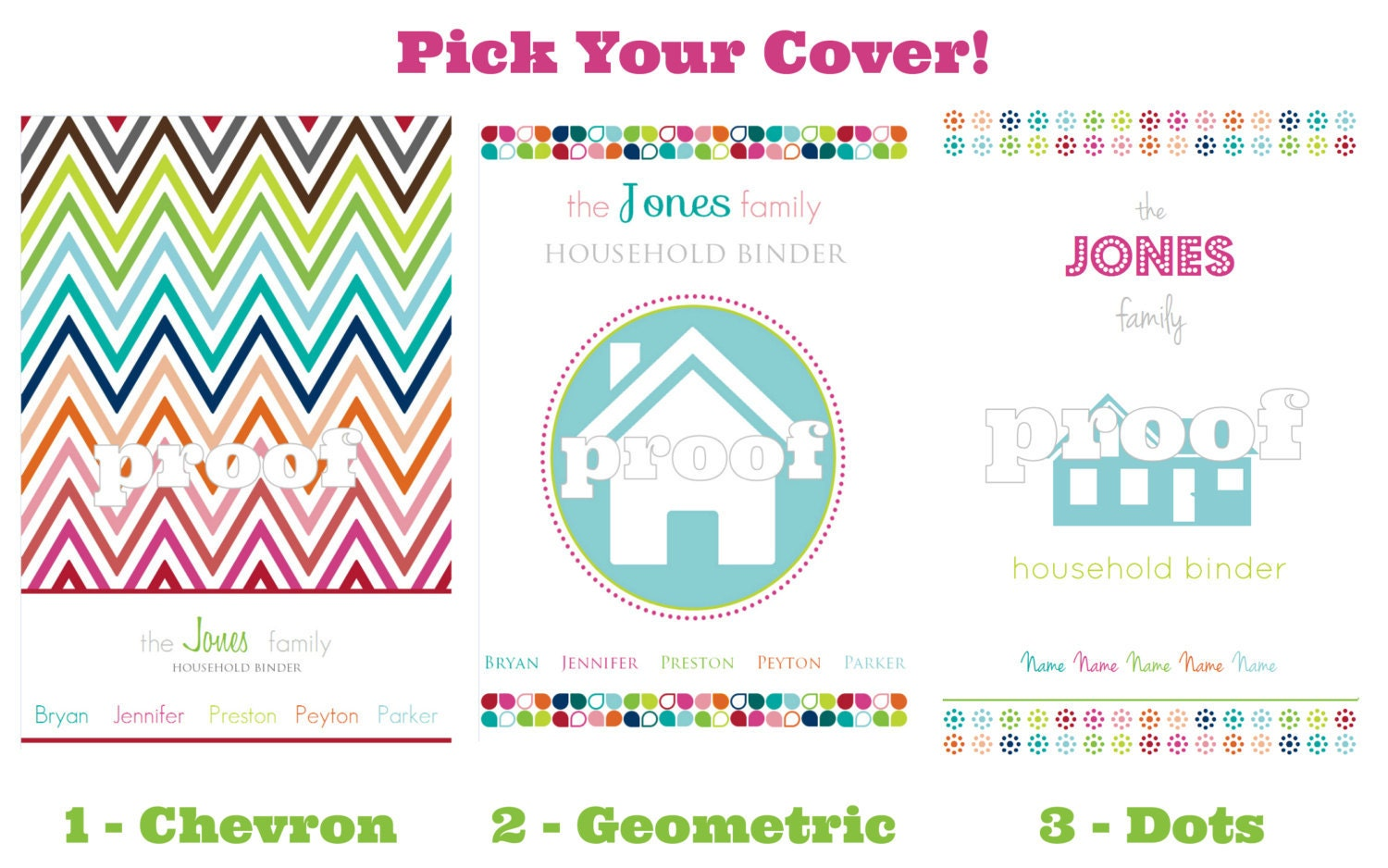 personalized household binder everything printable 128270zoom