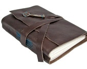 Key To My Heart Dark Brown Leather Journal