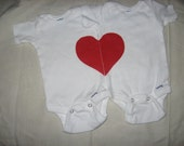 Twin my whole heart onesie  ,valentines is right around the corner