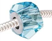 Swarovski Crystal 5920 BeCharmed Helix Bead - 4.5mm Hole Fits Pandora 'Aquamarine' x1 - SWBB-5010
