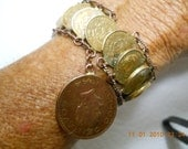 Amazing 1944 Handmade Copper and Brass Bronze Bracelet