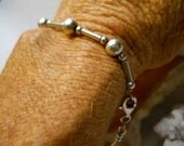 Sterling Silver Ball and Bead Egyptian Bracelet