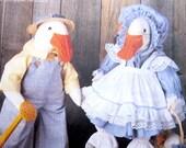McCalls 852 Stuffed Geese Clothes Stuffed Animal Pattern
