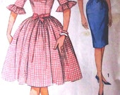 Vintage 1960s Simplicity 4254 Womens Dress 2 skirts