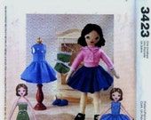 McCalls 3423 Retro Betsy McCall Doll Clothes Pattern