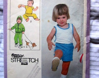Simplicity 8949 Boys 70s Tank Top Sweat Pants Shorts Jacket Sewing Pattern Chest 21