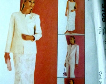 McCalls 3105 Womens 2000 Jacket Top Pants Skirt Belt Sewing Pattern Bust 32 to 36