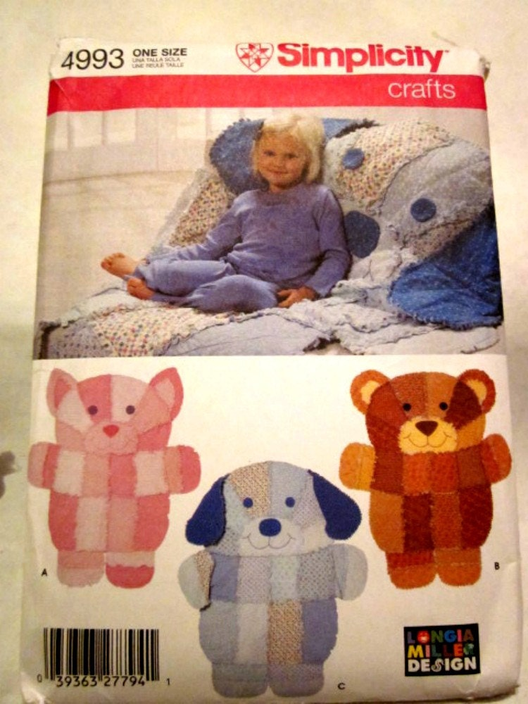 Simplicity 4993 Rag Quilt Wall Hangings Or Throws