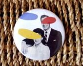 Anthony Zinonos Fridge Magnet Couple for Leukaemia CARE