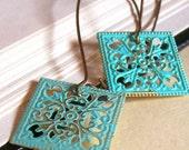 Bohemian style earrings, verdirgis lacy earrings