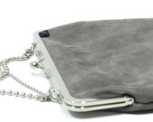 SALE 13'' laptop bag Grey - Nickel leather textured - Duchess Case for laptop - free shipping