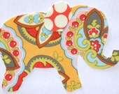Apricot Star Paisley Iron or Sew On Elephant Applique