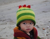 Yo Gabba Gabba Brobee Inspired Green Baby Hat