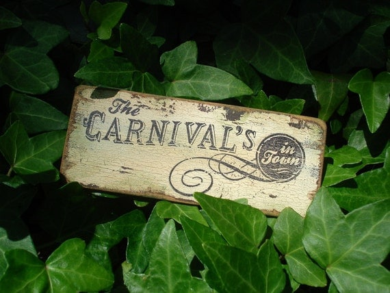 Larger Sign- The Carnival's in Town- Dollhouse Miniatures