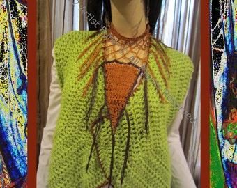 Fringed Scarf Necklace, Fringed Scarves, Bandana Scarf, Colorful Scarf Necklace, Bandana Style Scarf, Fringed Scarf, Fringed Crochet Scarf
