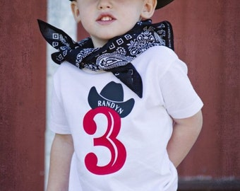 Western shirts, Cowboy Birthday number shirt, bull rider shirt,  deer antler or boot.  personalized by TheWalnut Street House