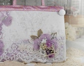 SALE 40.00 OFF. Shabby Chic Wisteria Handbag (One Of a Kind - Entirely Handmade Couture Special Occasion Handbags)