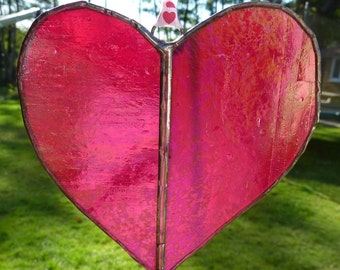 Love heart - stained glass light catcher