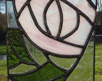 Mackintosh Style Rose Stained Glass Light Catcher MTO