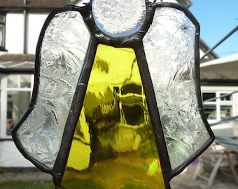 Golden Stained Glass Christmas Angel