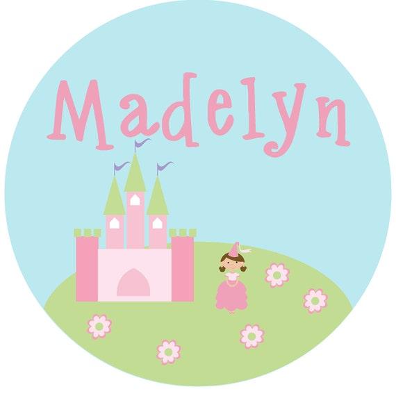 Personalized Princess Girl Melamine Plate