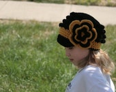 Black and Gold Proud Newsboy Hat