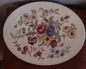 1940s Vernon Kilns May Flower Platter