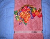 Thanksgiving Hand Towel Bath or Kitchen-Nature's Bounty