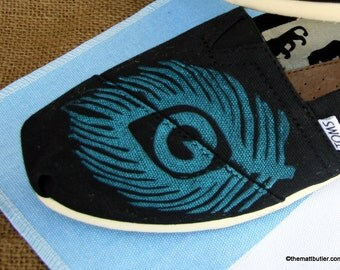 Peacock feather TOMS shoes