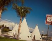 Route 66 Wigwam Motel - Roadside Wonders - Road Trip Inspired - Vintage Tee Pee Motel - Retro Home Decor - Fine Art Photography
