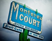 Monterey Court Motel Neon Sign - Tucson Arizona Motel - Retro Home Decor - Neon Cactus - Retro Wall Art - Fine Art Photography